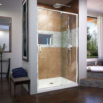 Flex 44 to 48 in. x 72 in. Framed Pivot Shower Door in Chrome