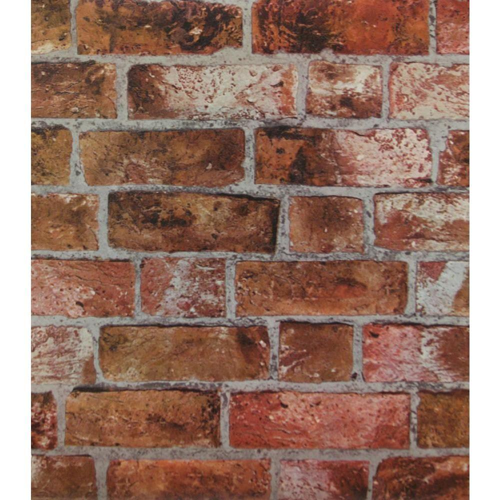 York Wallcoverings Brick Wallpaper He1046 The Home Depot
