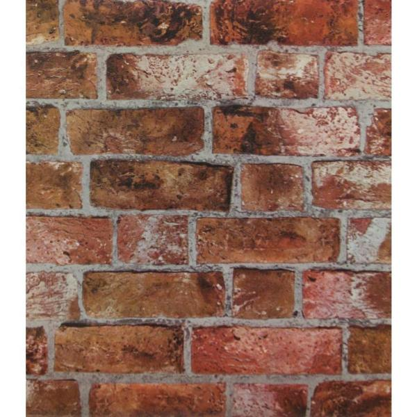 Brick Paper Strippable Roll Wallpaper (Covers 56 sq. ft.)