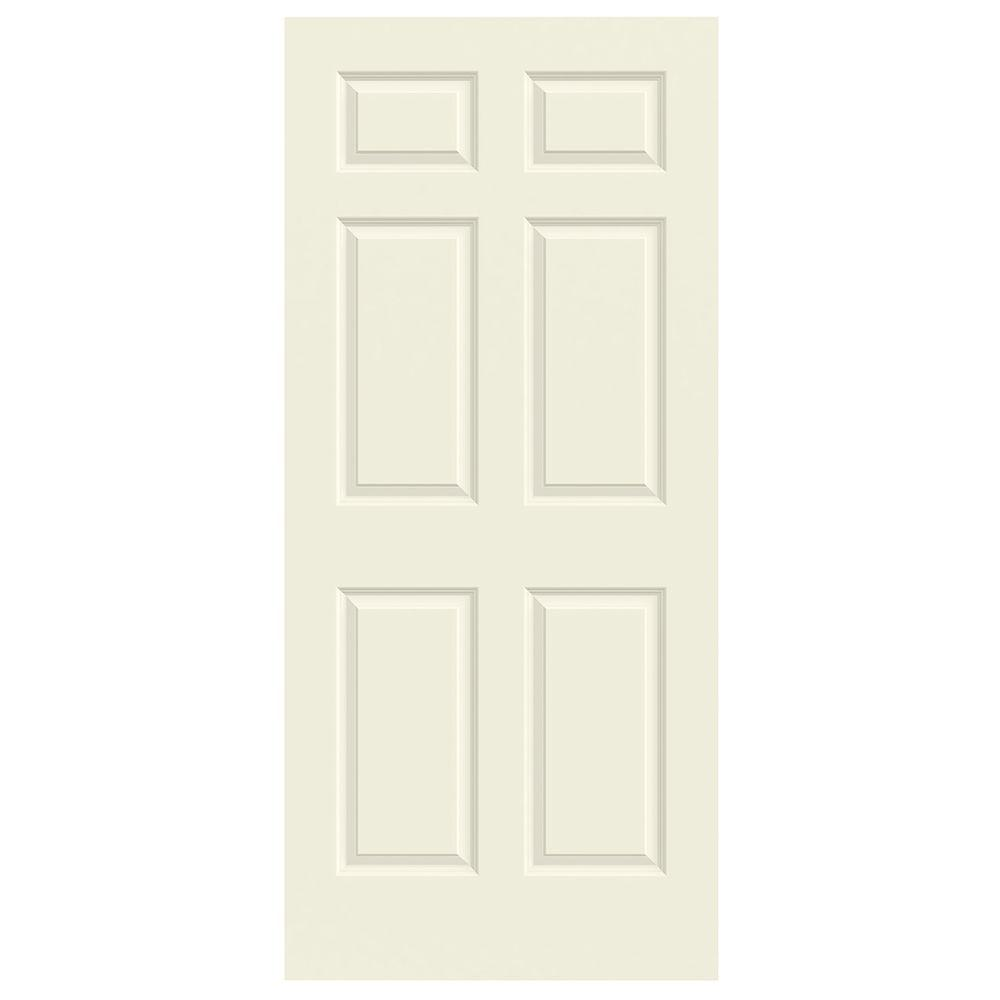 Jeld wen 36 in x 80 in colonist vanilla painted smooth for Solid core mdf interior doors