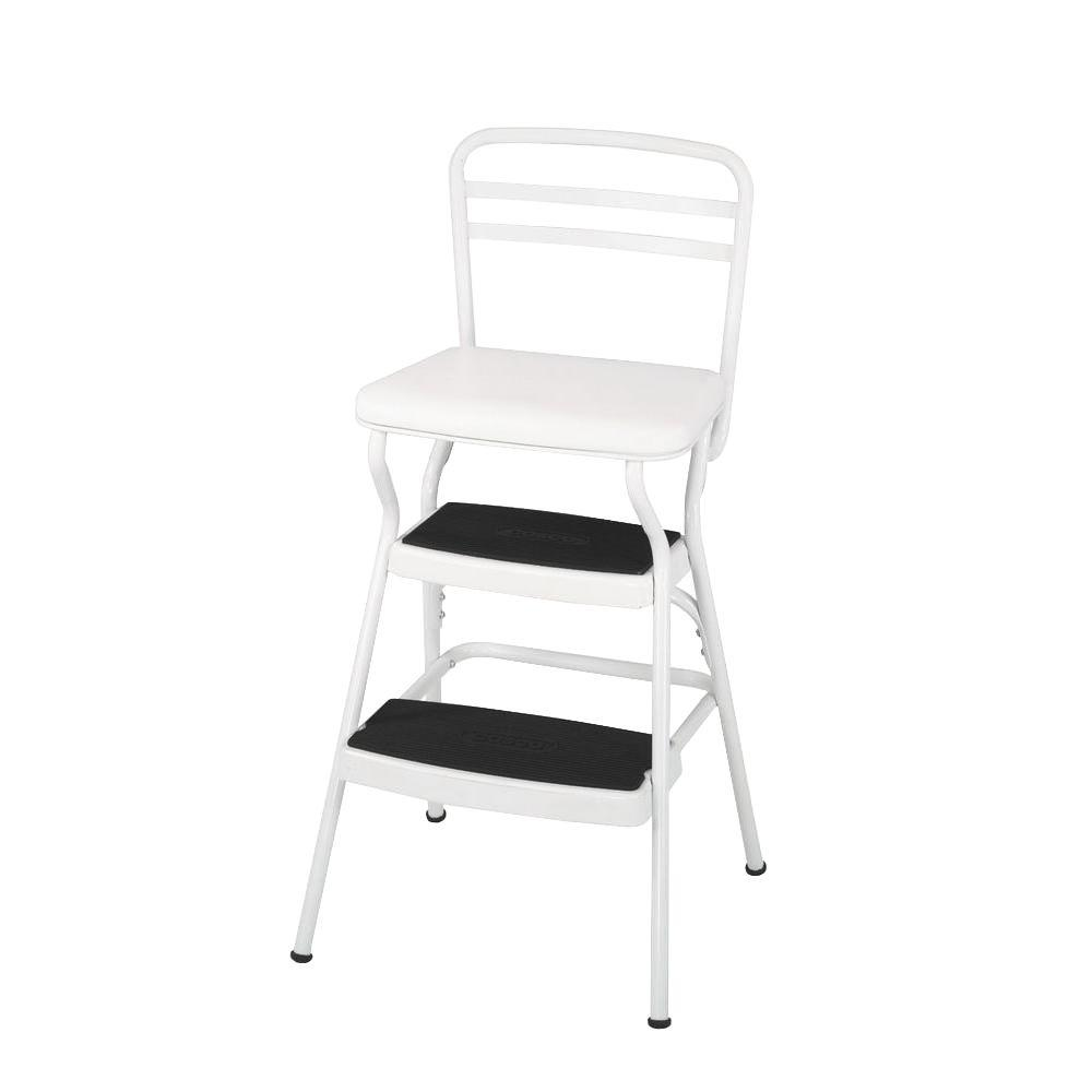 Cosco 225 Lb White Not Rated Chair Step Stool 11130whte