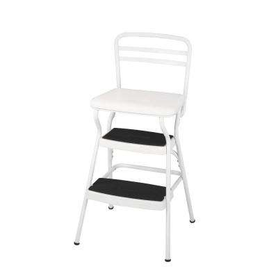225 lb. White Not Rated Chair/Step Stool