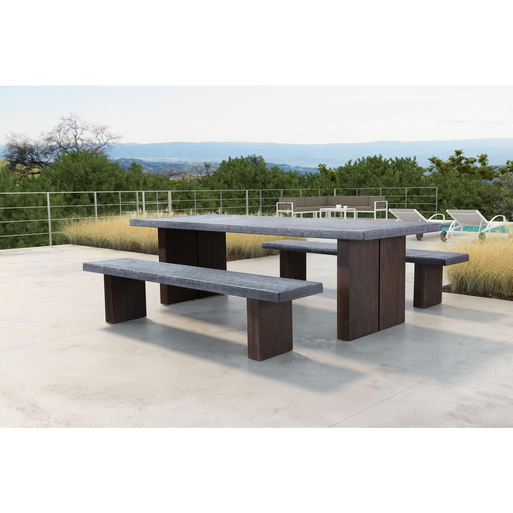 ZUO Windsor Wood Outdoor Dining Table