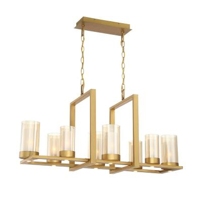 Samantha 60-Watt 8-Light LED Brass Chandelier with Clear and Frosted Shades
