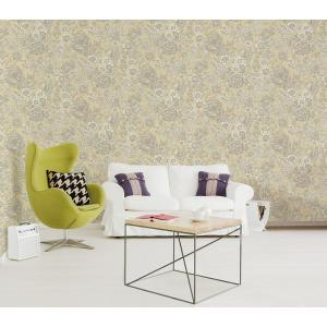 564 Sq Ft Hedgerow Light Yellow Floral Trails Wallpaper