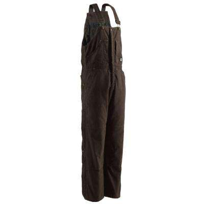 Men's Medium Bark Duck Insulated Bib Overall