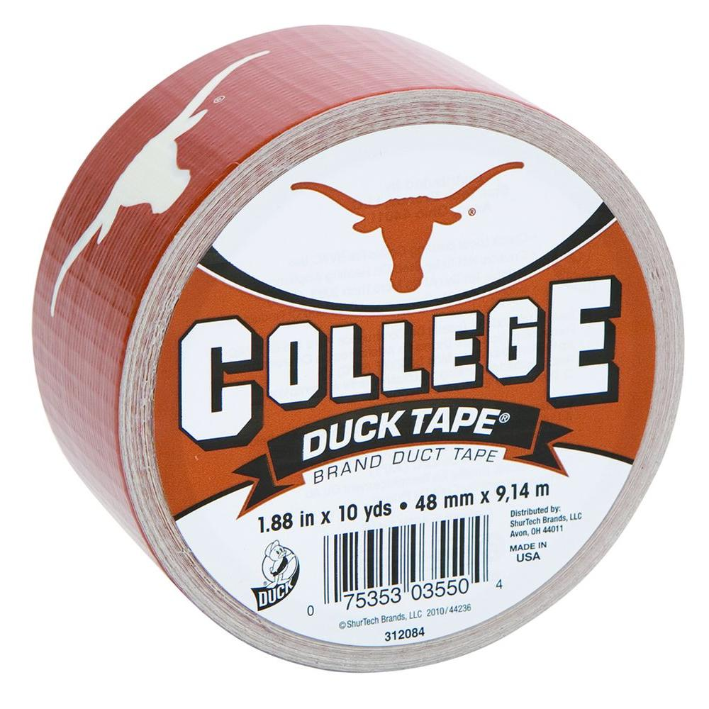 Duck College 1-7/8 in. x 30 ft. University of Texas Duct Tape