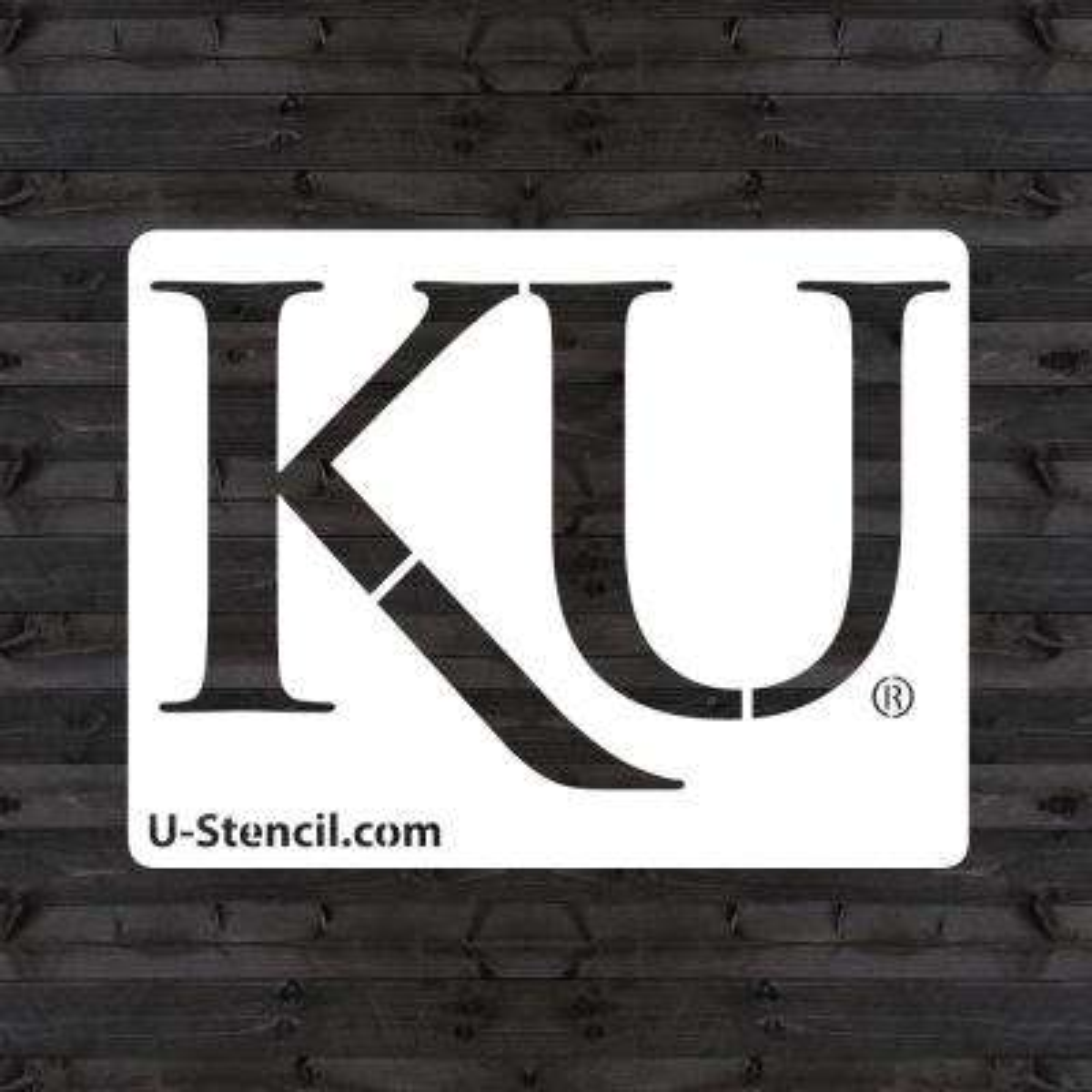 """KU """"KU"""" Mini Stencil"""