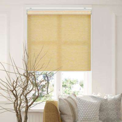 Snap-N'-Glide Felton Cream Polyester Cordless Horizontal Roller Shades - 27 in. W x 72 in. L