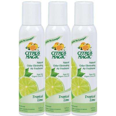 3 oz. Tropical Lime All Natural Odor Eliminating Air Freshener Spray (3-Pack)