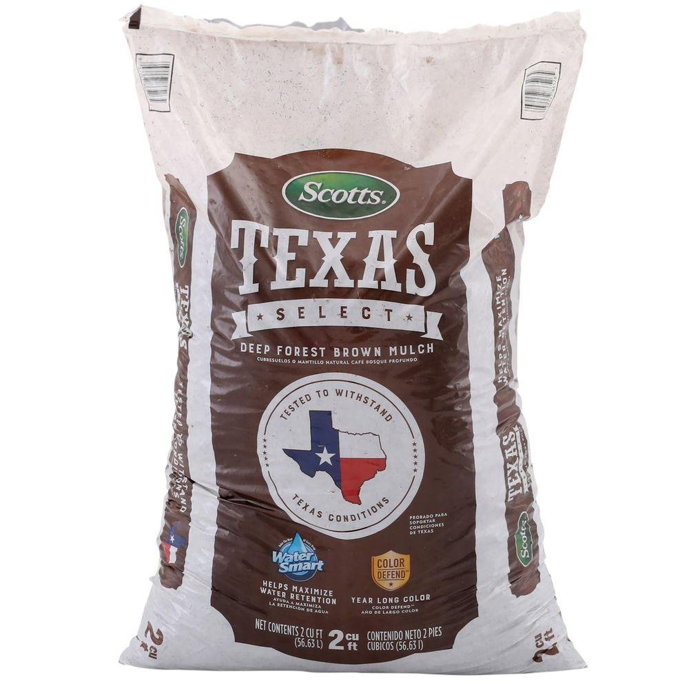 Scotts Texas Select 2 Cu Ft Deep Forest Brown Mulch 88652600 The