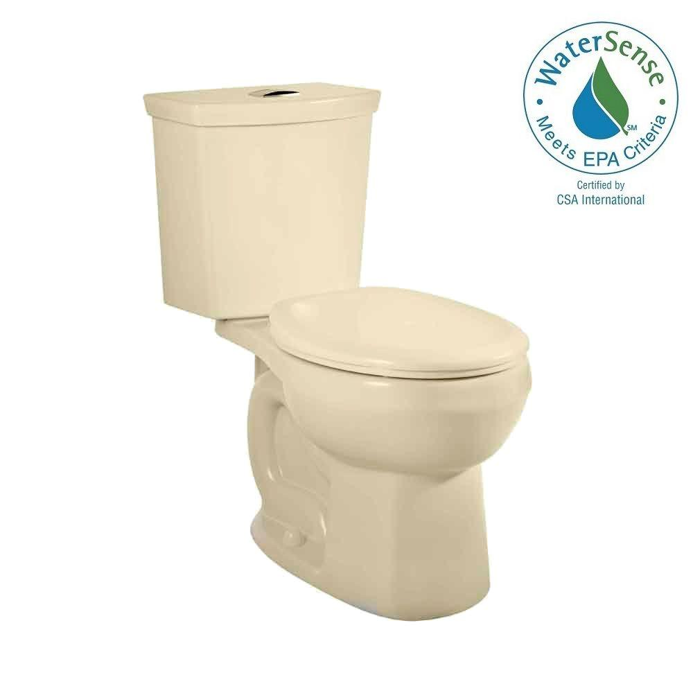 American Standard H2Option 2-piece Siphonic 1.6/1.0 GPF Dual Flush Round Front Toilet in Bone