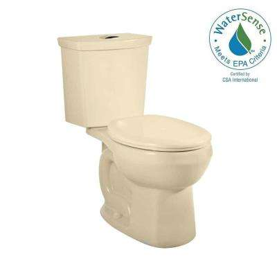 H2Option 2-piece Siphonic 1.6/1.0 GPF Dual Flush Round Front Toilet in Bone