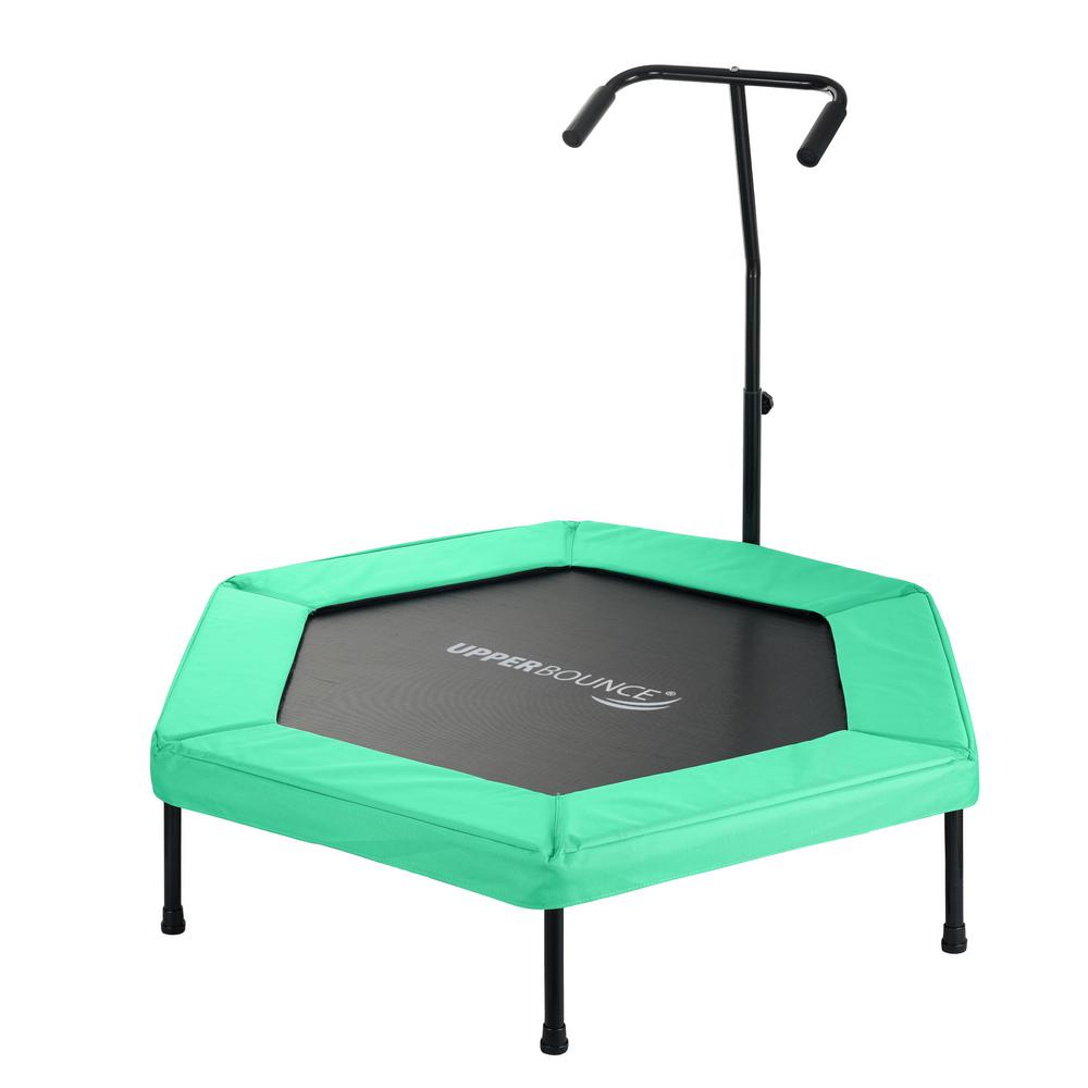 Upper Bounce 50 in. Hexagonal Fitness Mini-Trampoline wit...