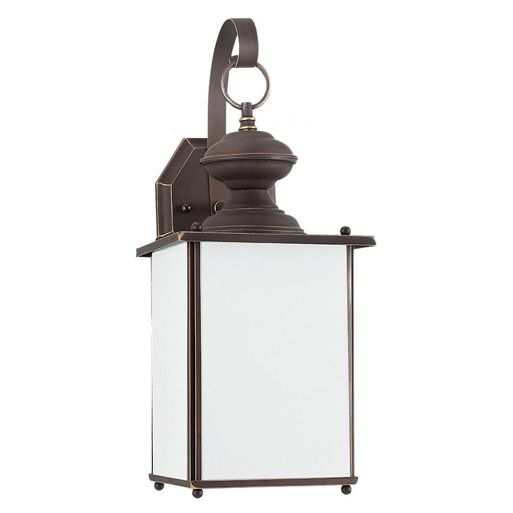 Jamestowne 1-Light Outdoor Antique Bronze Wall Mount Fixture