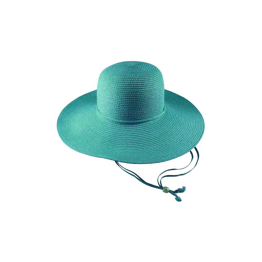 Aqua Straw Hat