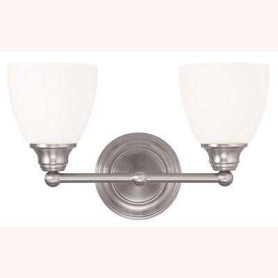 Somerville 2-Light Brushed Nickel Bath Light