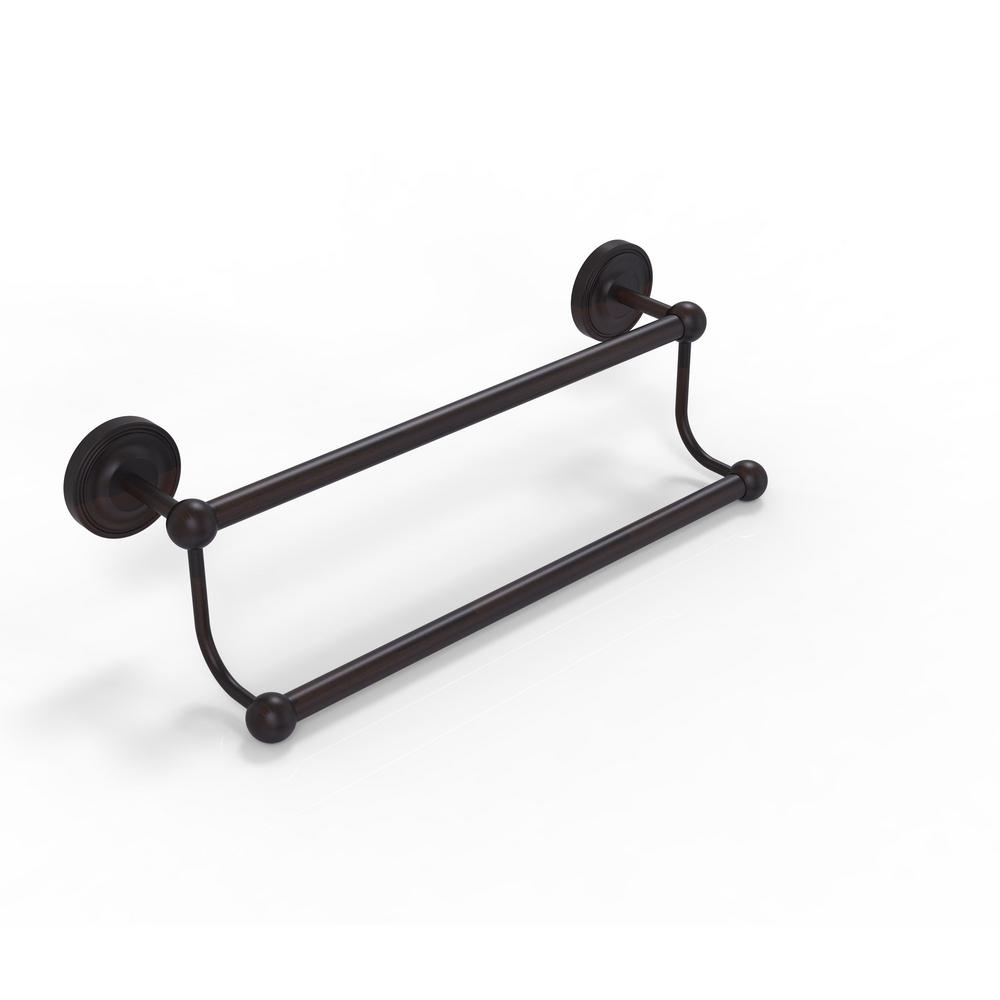 Prestige Regal Collection 24 in. Double Towel Bar in Venetian Bronze