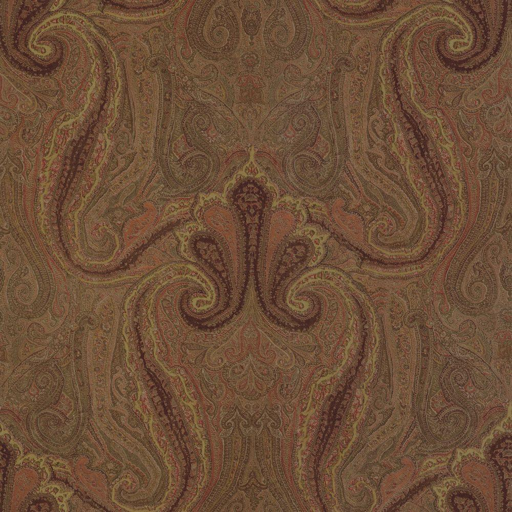 The Wallpaper Company 56 sq. ft. Brown Lyon Wallpaper-DISCONTINUED
