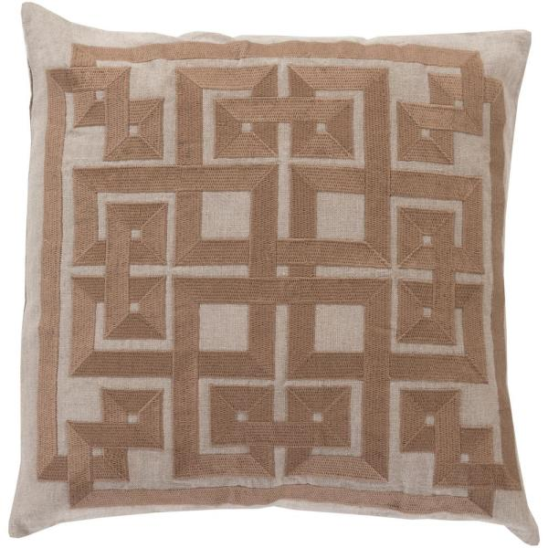 Chieti Grey Geometric Polyester 20 in. x 20 in. Throw Pillow