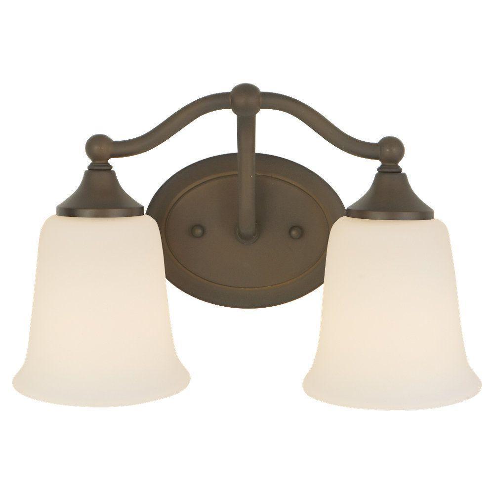 Feiss Claridge 13 in. W 2-Light Oil Rubbed Bronze Vanity Light ...