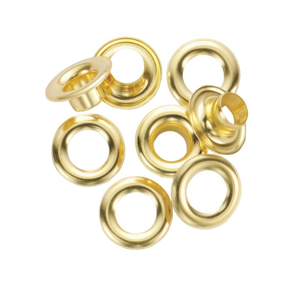 "25 1//2/"" diameter hole Pack of Solid Brass Grommet//Eyelet #4 with Washer"
