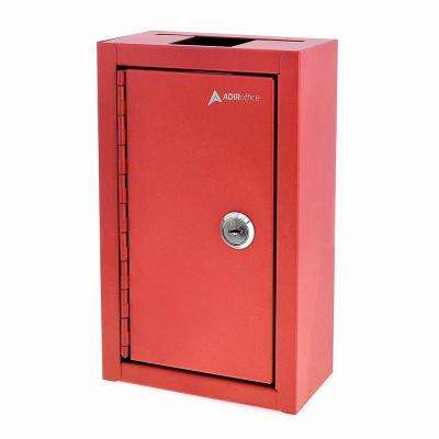 Commercial Grade Large Storage Key Drop Box, Red