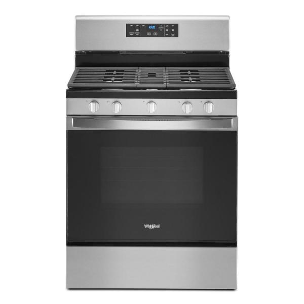 5.0 cu. ft. Gas Range with Self Cleaning and Center Oval Burner in Stainless Steel