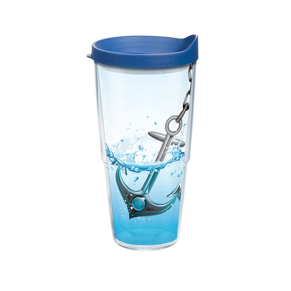 Anchor Splash 24 oz. Double Walled Insulated Tumbler with Travel Lid