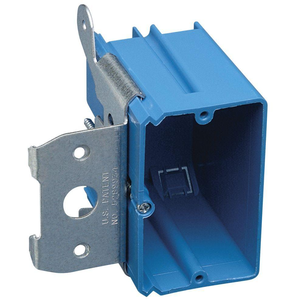 Carlon 2 Gang 32 Cu In New Work Electrical Box With Flange B232br Wire Color Code Additionally Thomas And Betts Duct On Iec Wiring 1 21 Non Metallic Wall Adjustable Bracket
