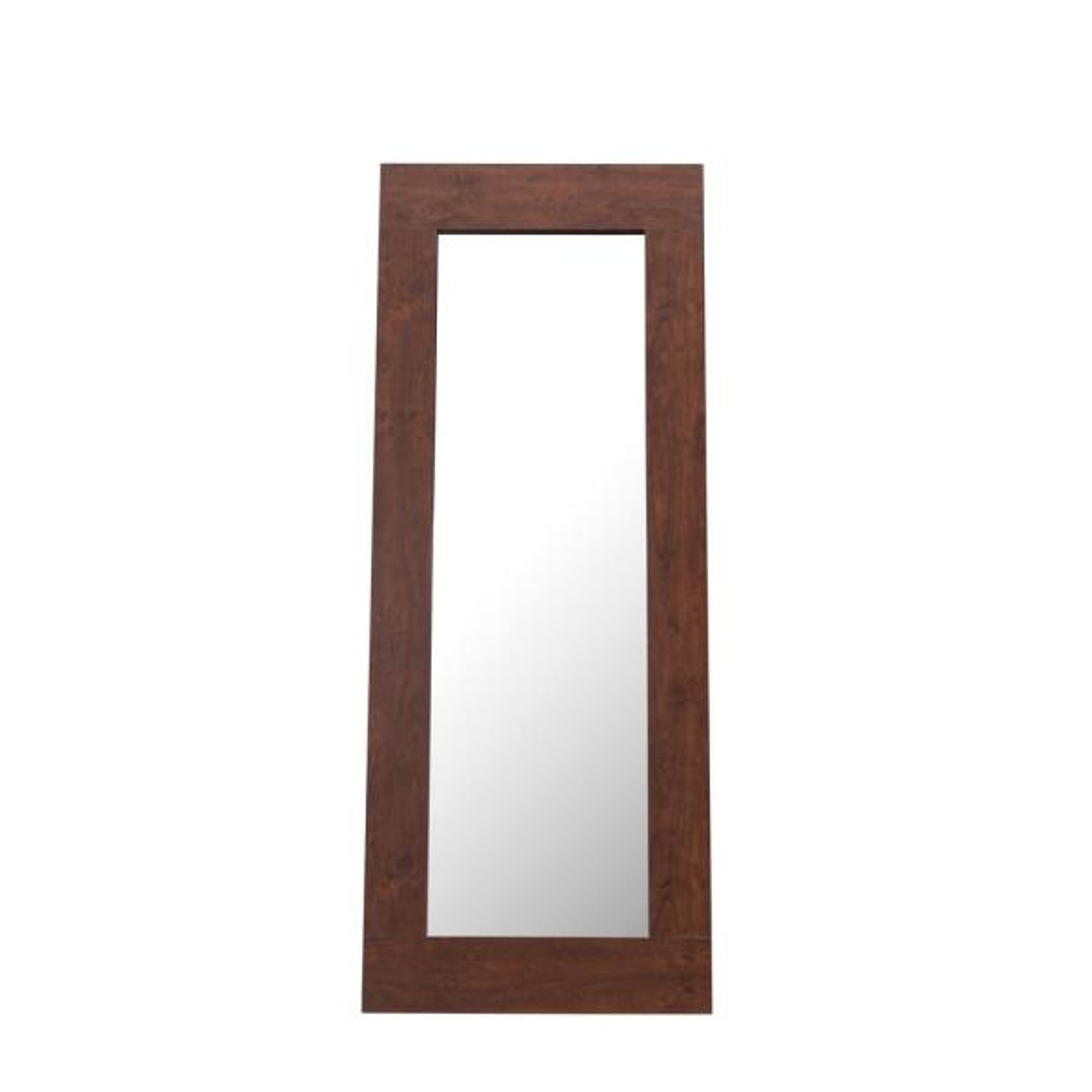Candide 72 in.H x 28 in.W Wooden Framed Full Length Vintage Walnut Floor Mirror
