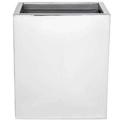 Modern Bath 10 in. Wastebasket in Mirror Polish
