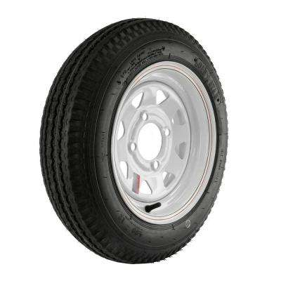 480-12 Load Range C 4-Hole Custom Spoke Trailer Tire and Wheel Assembly