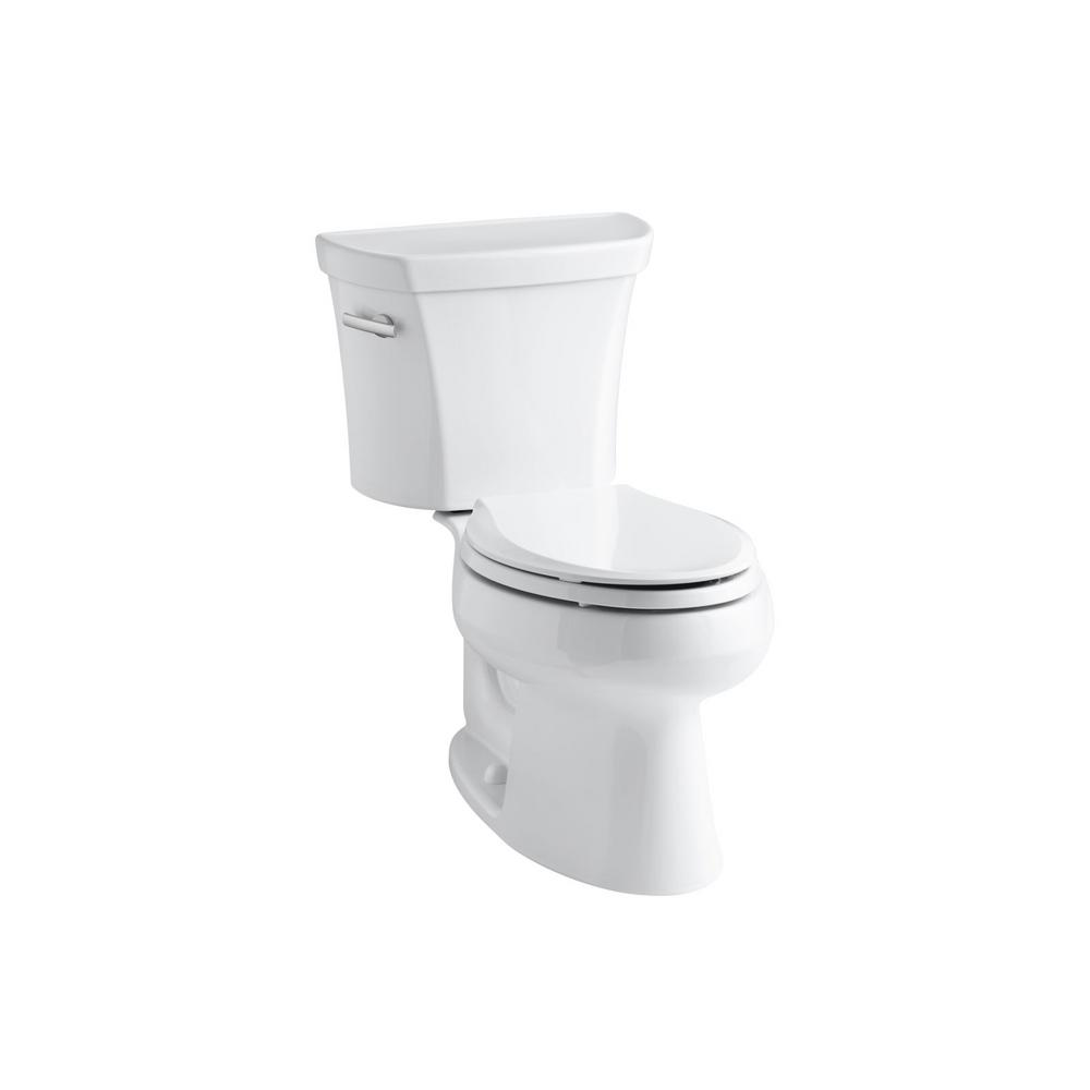 kohler wellworth 2 piece 1 6 gpf single flush elongated toilet in white k 3978 t 0 the home depot. Black Bedroom Furniture Sets. Home Design Ideas