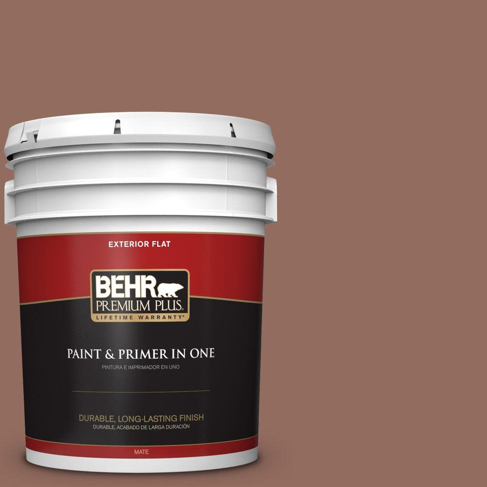 5-gal. #220F-6 Chocolate Curl Flat Exterior Paint