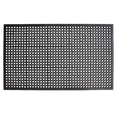 True Step Open Circle Rubber 36 in. x 60 in. Door Mat