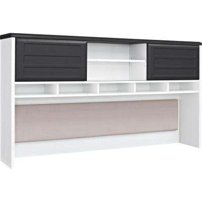 Mansfield Gray and White Hutch