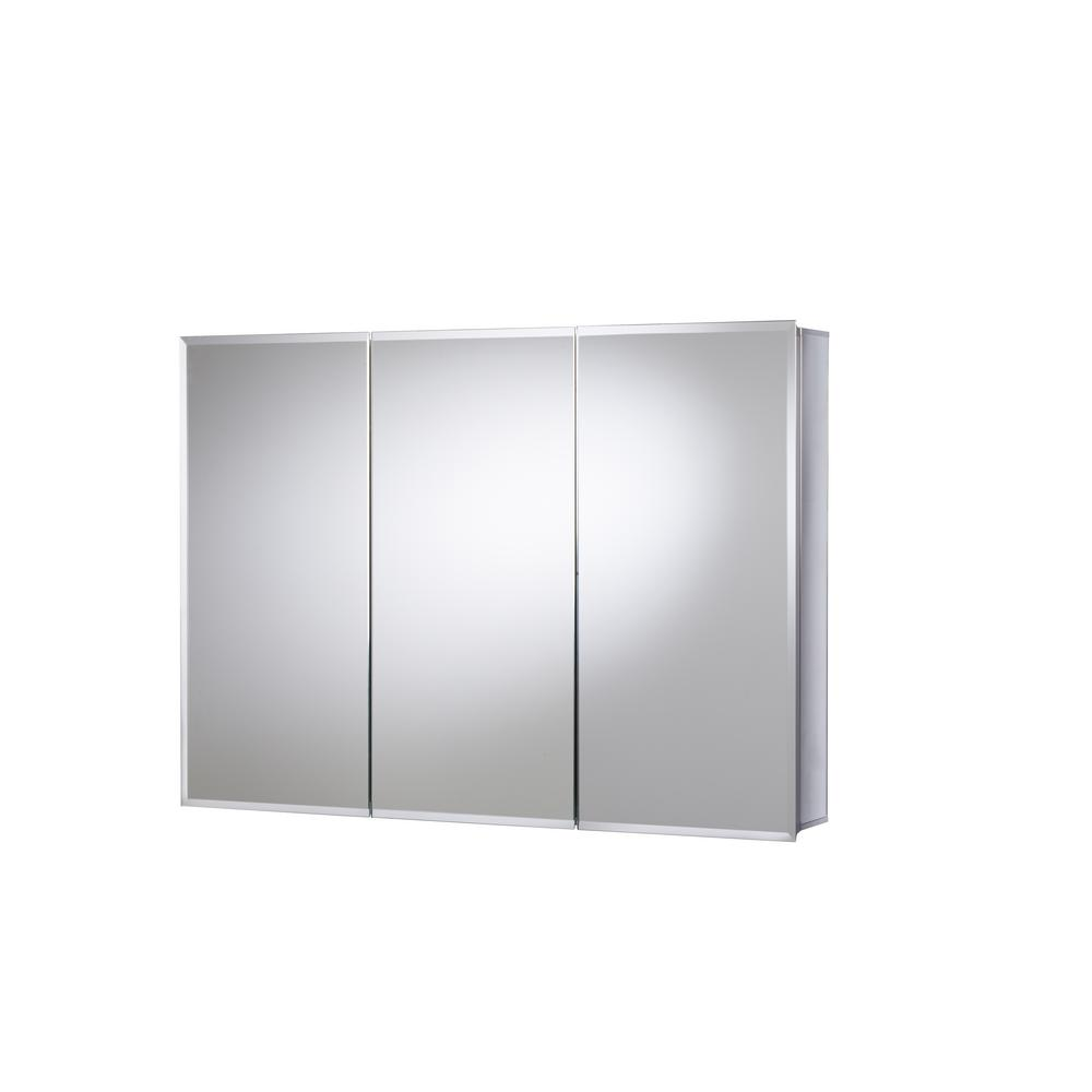 JACUZZI 36 in. x 26 in. Recessed or Surface Mount Triple Door Tri-View Medicine Cabinet