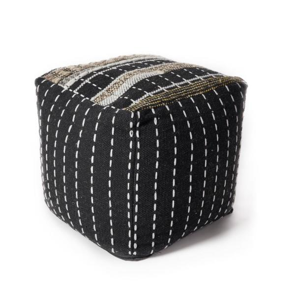 Black Hypoallergenic Polyester 18 in. x 18 in. Throw Pillow