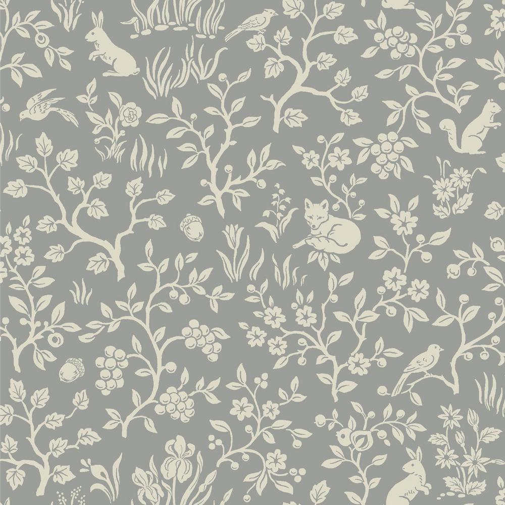 Magnolia Home By Joanna Gaines Fox Hare Paper Strippable Wallpaper Covers 56 Sq Ft Me1571 The Home Depot
