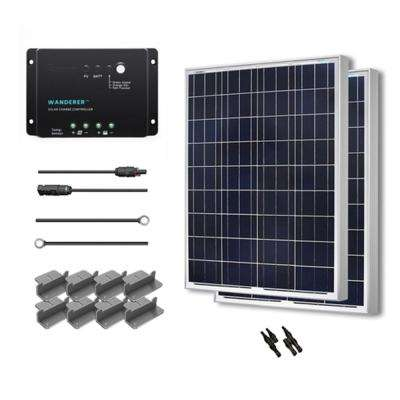 200-Watt 12-Volt Polycrystalline Solar Starter Kit for Off-Grid Solar System