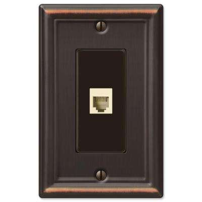 Chelsea 1 Gang Phone Wall Plate  - Oil-Rubbed Bronze