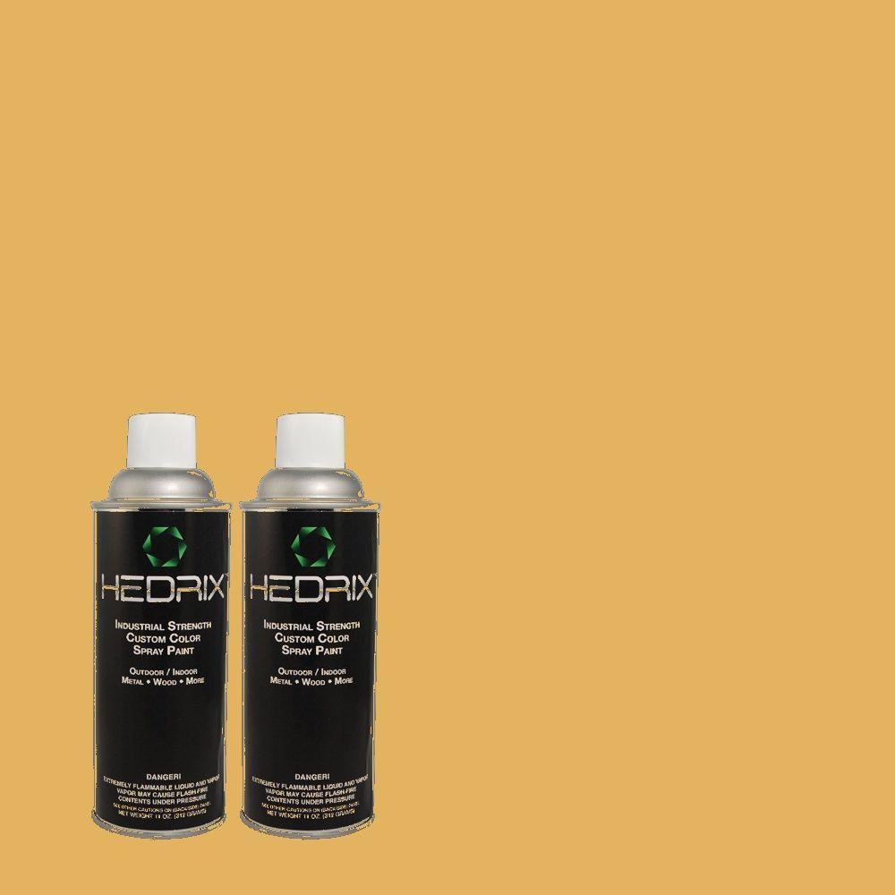 Hedrix 11 oz. Match of MQ4-11 Lamplit Semi-Gloss Custom Spray Paint (2-Pack)