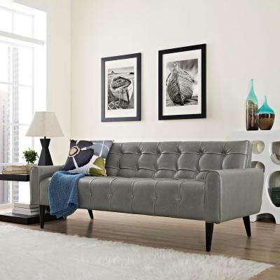 Delve Gray Upholstered Vinyl Sofa
