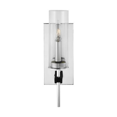Broderick 4.5 in. Chrome Sconce with Clear Glass Shade