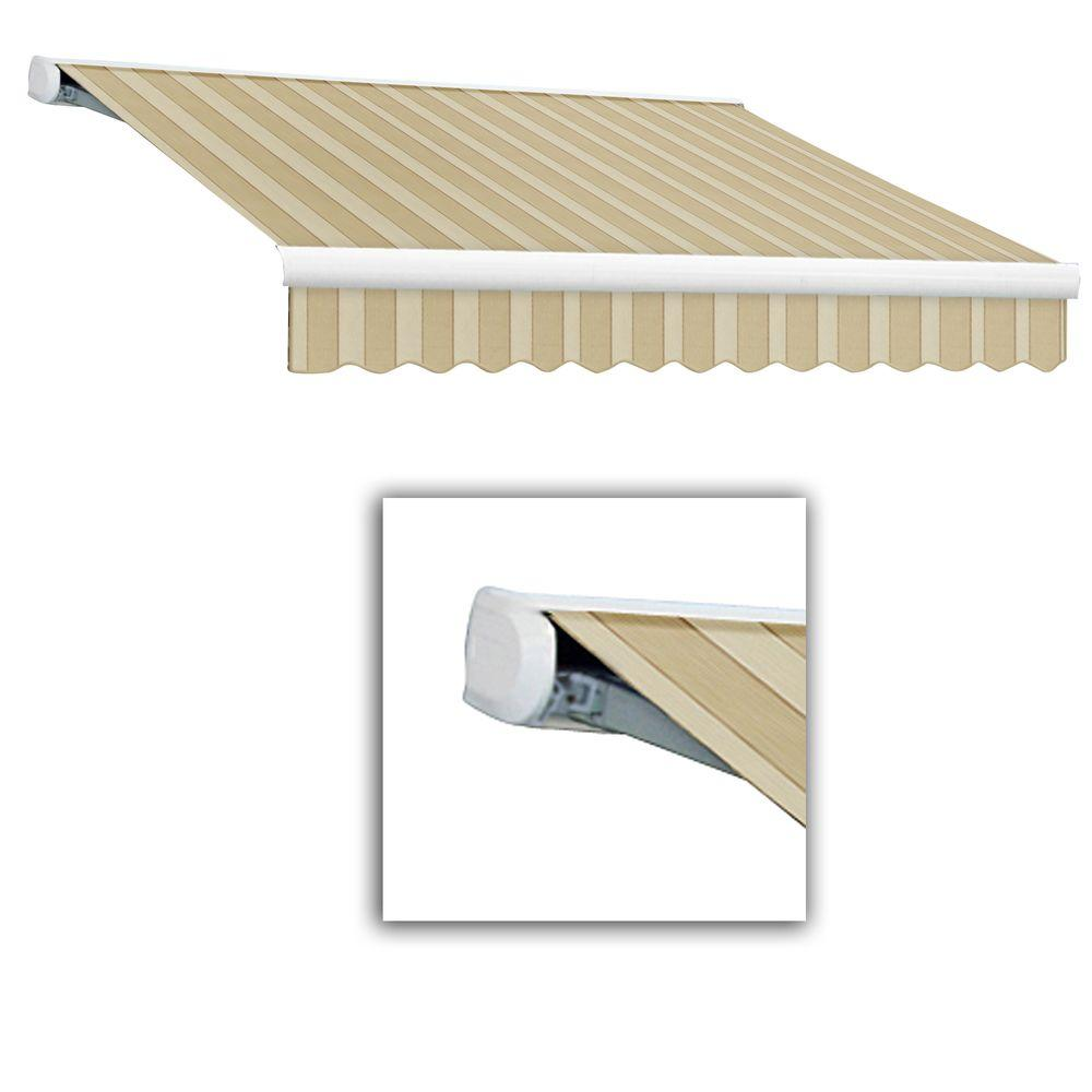 AWNTECH 16 ft. Key West Full-Cassette Manual Retractable Awning (120 in. Projection) in Linen/Almond/White