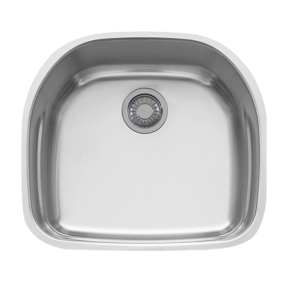 Beau Prestige Undermount Stainless Steel 22.25 In. X 19.875 In. Single Bowl  Kitchen Sink