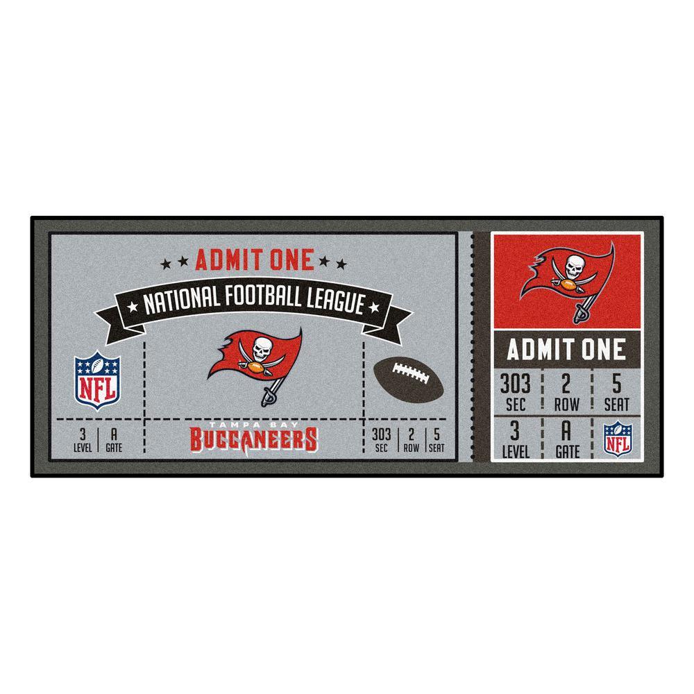 NFL - Tampa Bay Buccaneers 30 in. x 72 in. Indoor Ticket Runner Rug