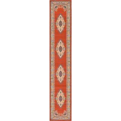 Reza Washington Terracotta 3' 0 x 16' 5 Runner Rug