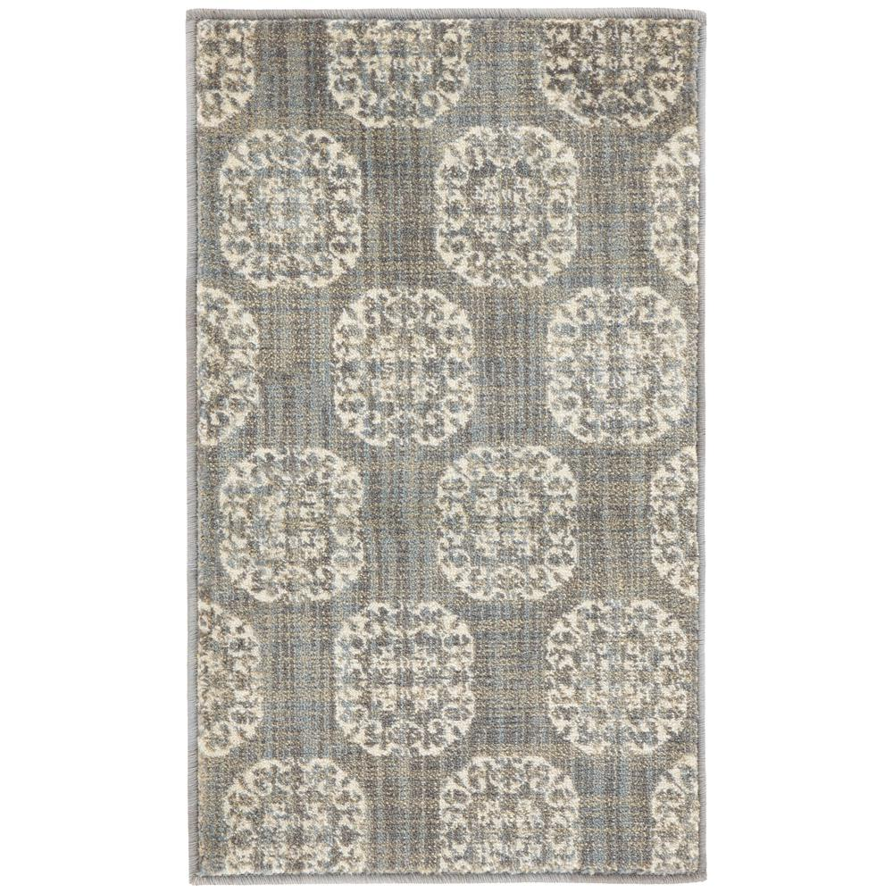 Home Decorators Collection Essex Medallion Gray 1 Ft 10 In X 3 Ft Area Rug 451050 The Home